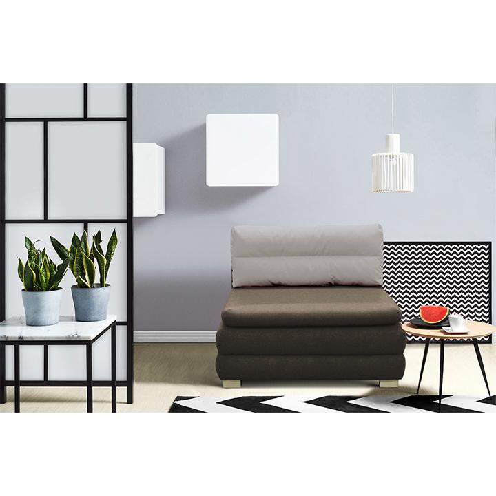 Rozkladacie kreslo, hnedá/sivobéžová, MAUGLI, interier