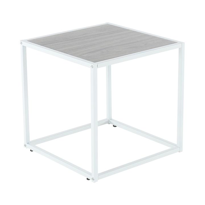 Príručný stolík, dub/biela, JAKIM TYP 2, poškodený tovar