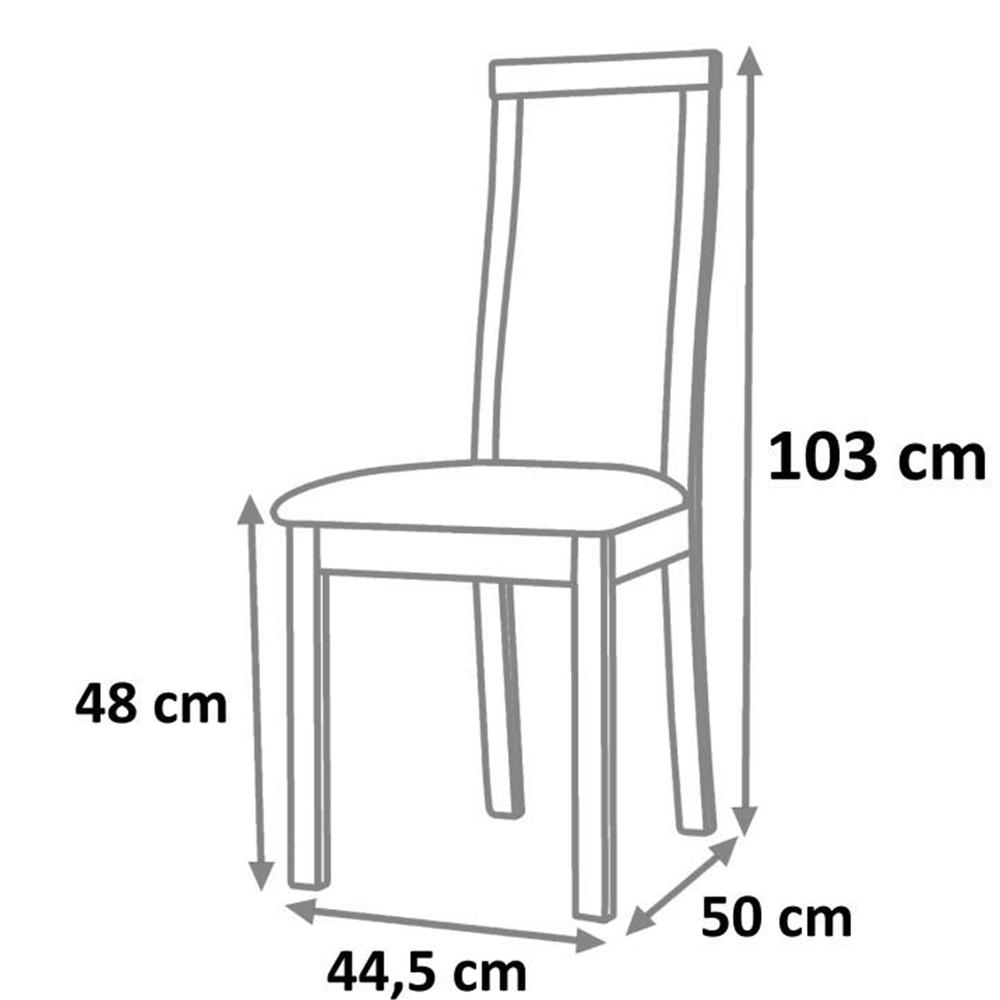Drevená stolička, wenge/terakota, BONA, poškodený tovar
