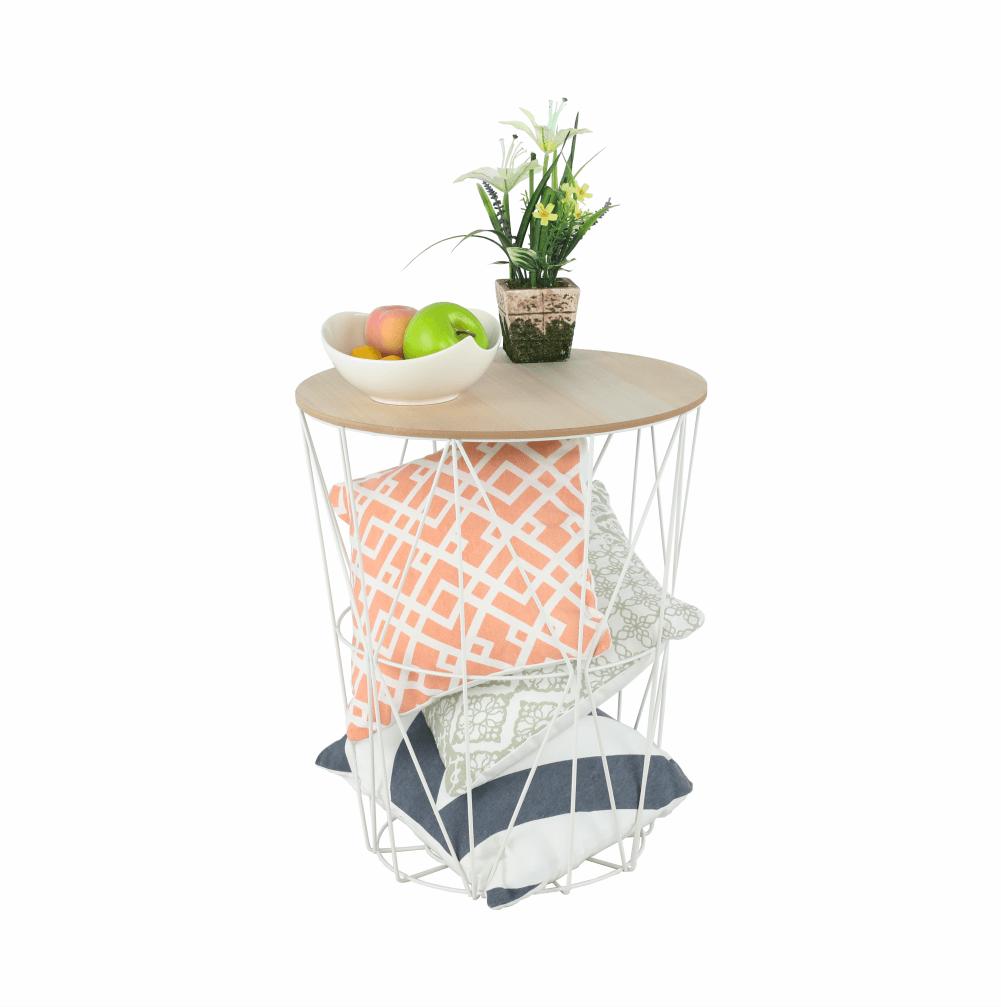 kisasztal, természetes/fehér, NANCER TYP 3
