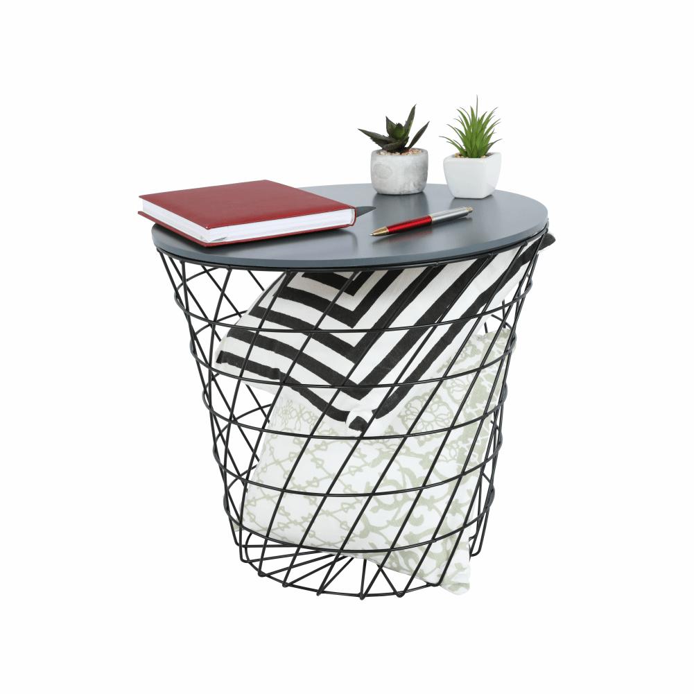 kisasztal, grafit/fekete, BATIS TYP 2