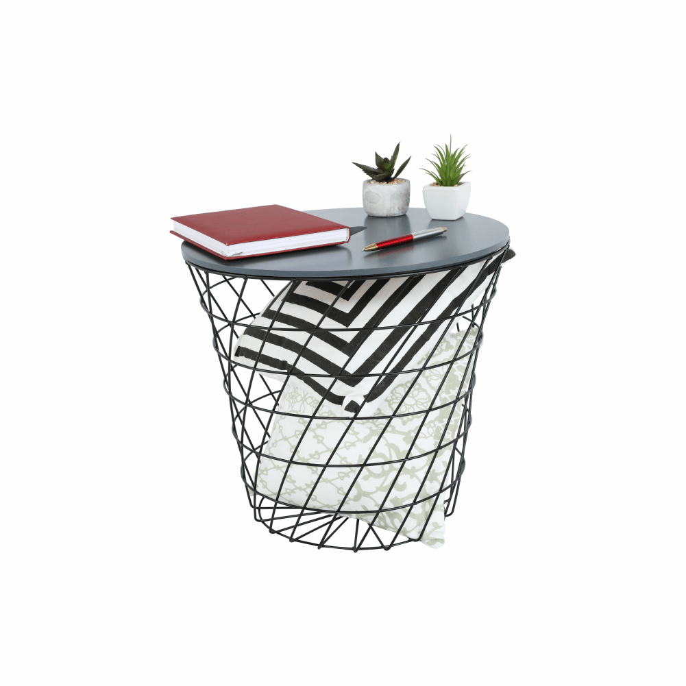 kisasztal, grafit/fekete, BATIS TYP 3