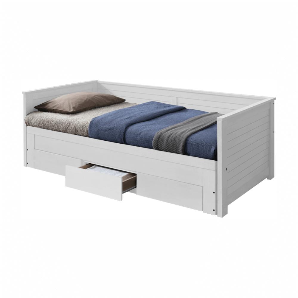 Kinyitható ágy, fehér, GORETA