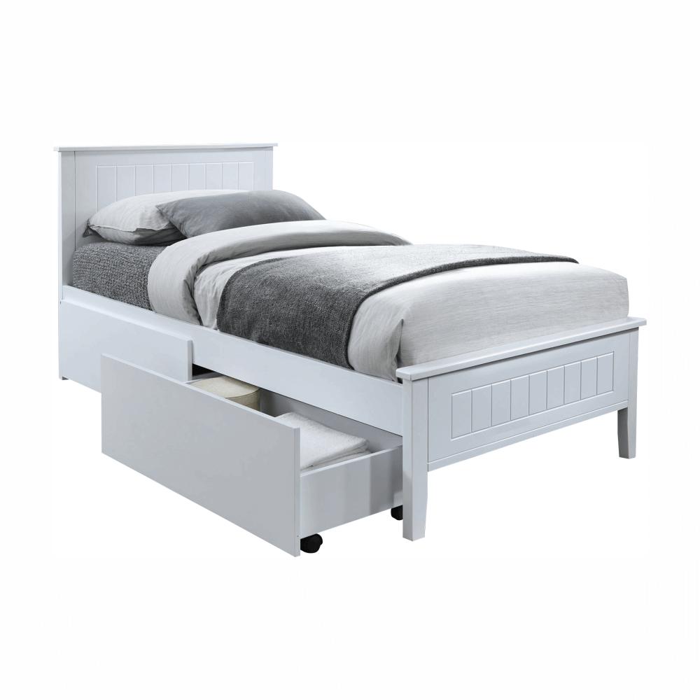 Ágy, ágy alatti tárolók nélkül, fehér, 90x200, MIDEA