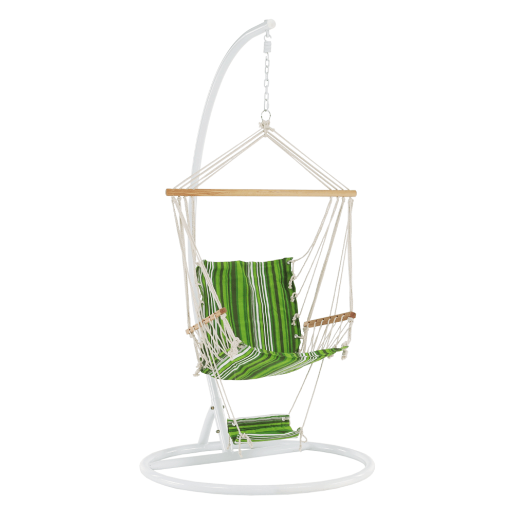 Scaun balansoar suspendabil, verde / alb, JAMBI