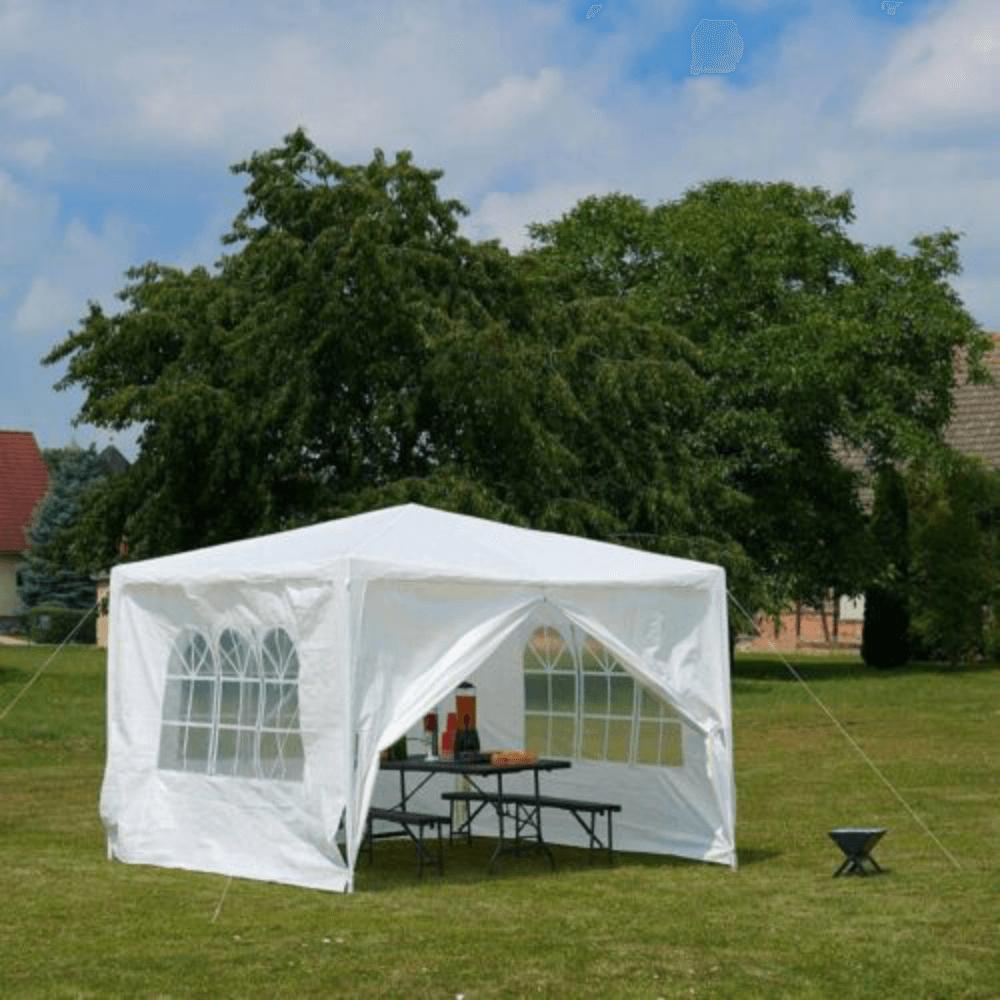 Cort de grădină pentru party, alb, 3x3 m, TEKNO TYP 1