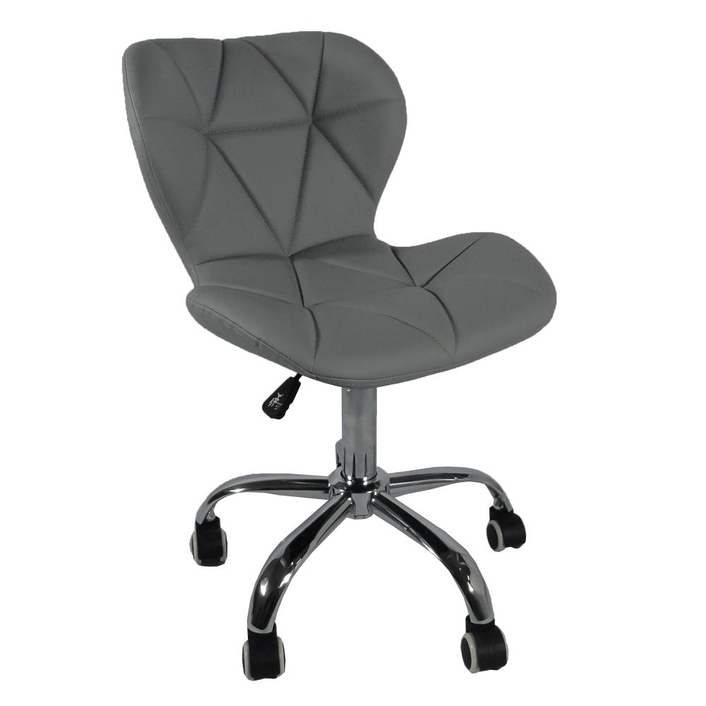 Irodai fotel, világosszürke/króm, ARGUS