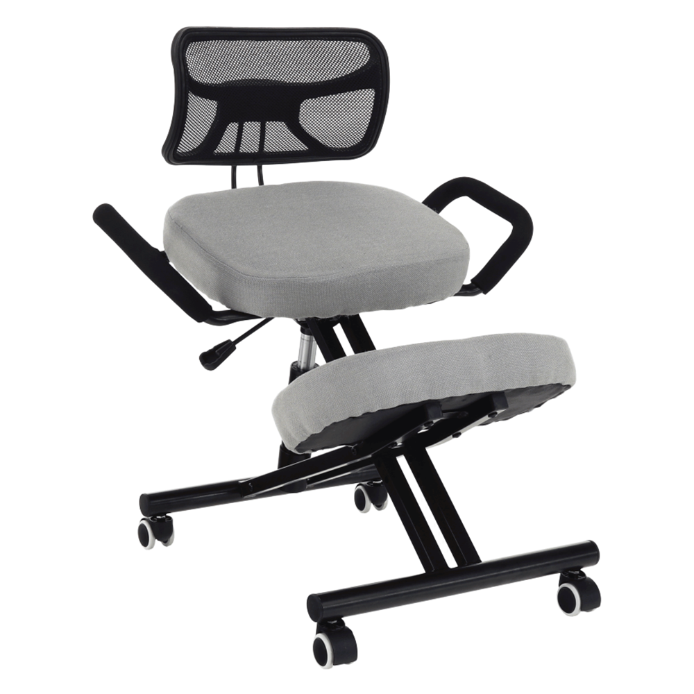 Scaun de îngenunchiere ergonomic, gri-maro Taupe / negru, RUFUS