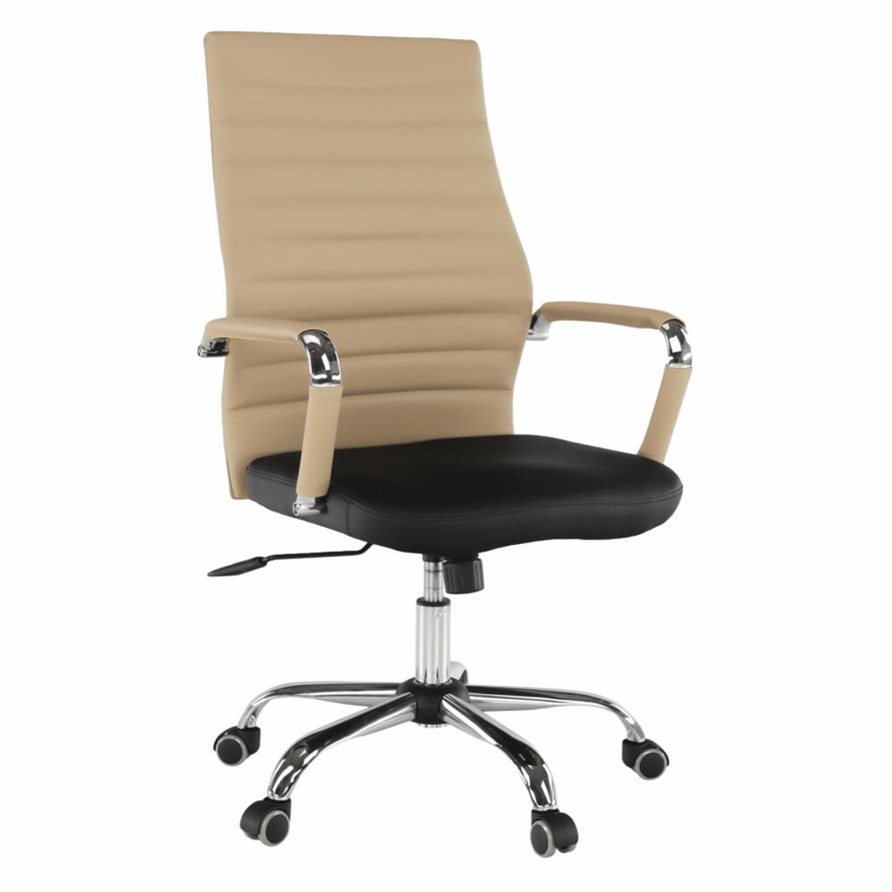 Irodai szék, bézs/fekete, DRUGI TYP 1
