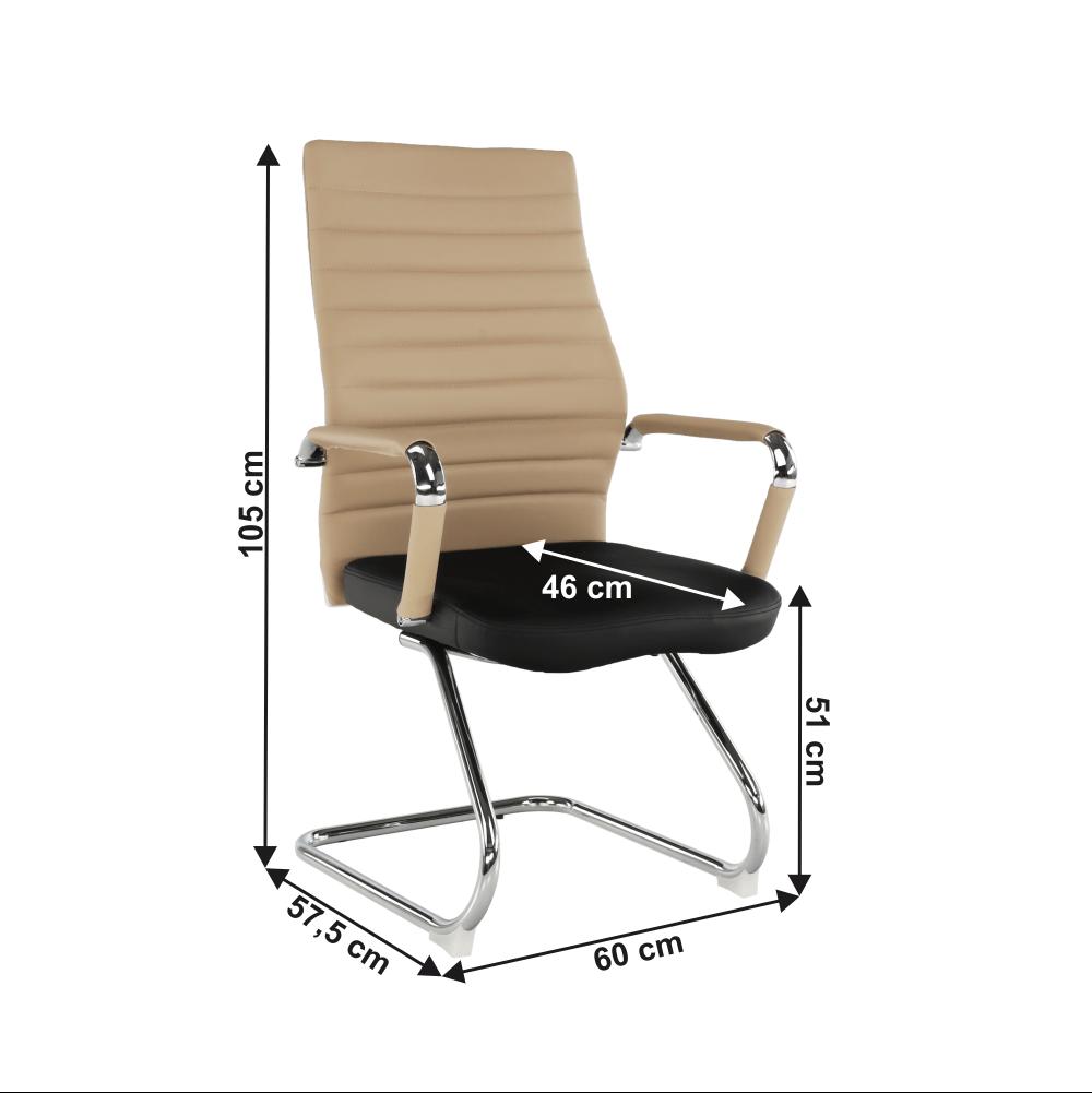Scaun de şedinţă, bej/negru, DRUGI TYP 2