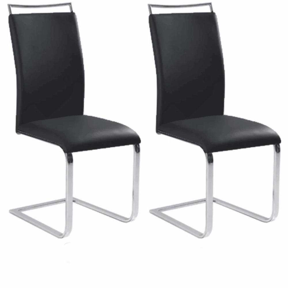 2 kusy, jedálenská stolička,  čierna, BARNA NEW