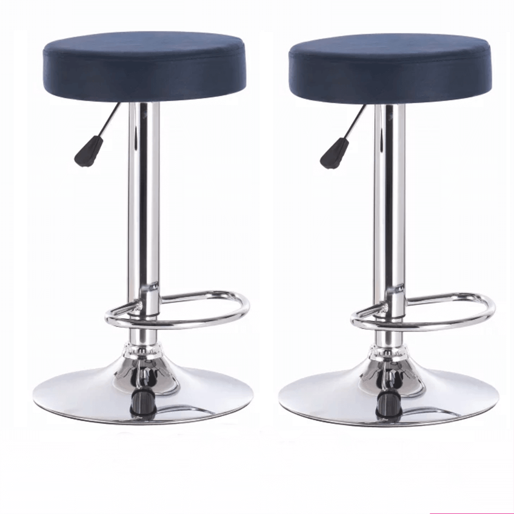 2 kusy, barová stolička, petrolejová látka s efektom brúsenej kože, GALVIN