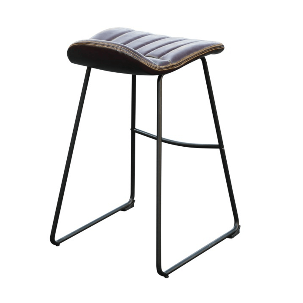 2 kusy, barová stolička, tmavohnedá/čierna/kov, CANDEL