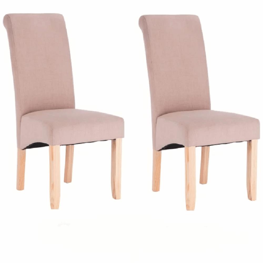 2 kusy, jedálenská stolička, krémová, JUDY 2 NEW