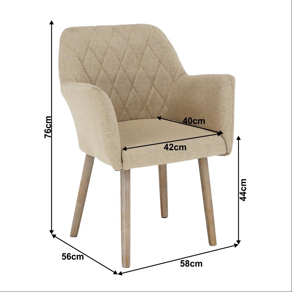Fotel, bézs/bükk, EKIN