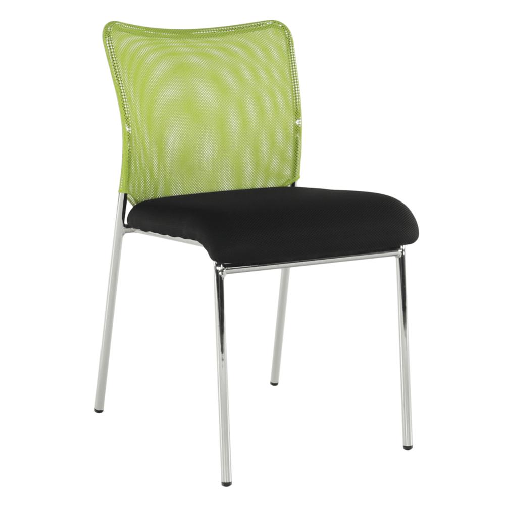 Scaun de birou, verde/negru/crom, ALTAN