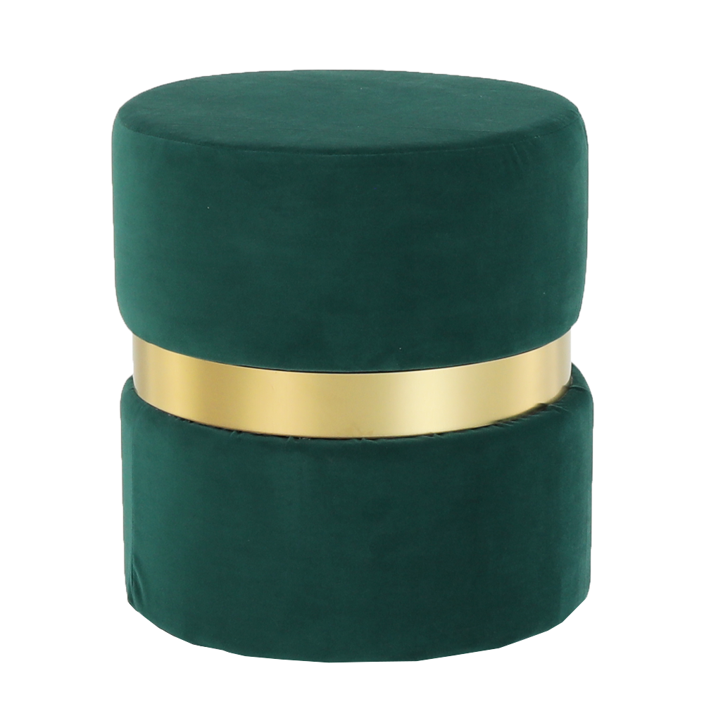 Taburet, catifea Velvet smarald/vopsea aurie, VIZEL