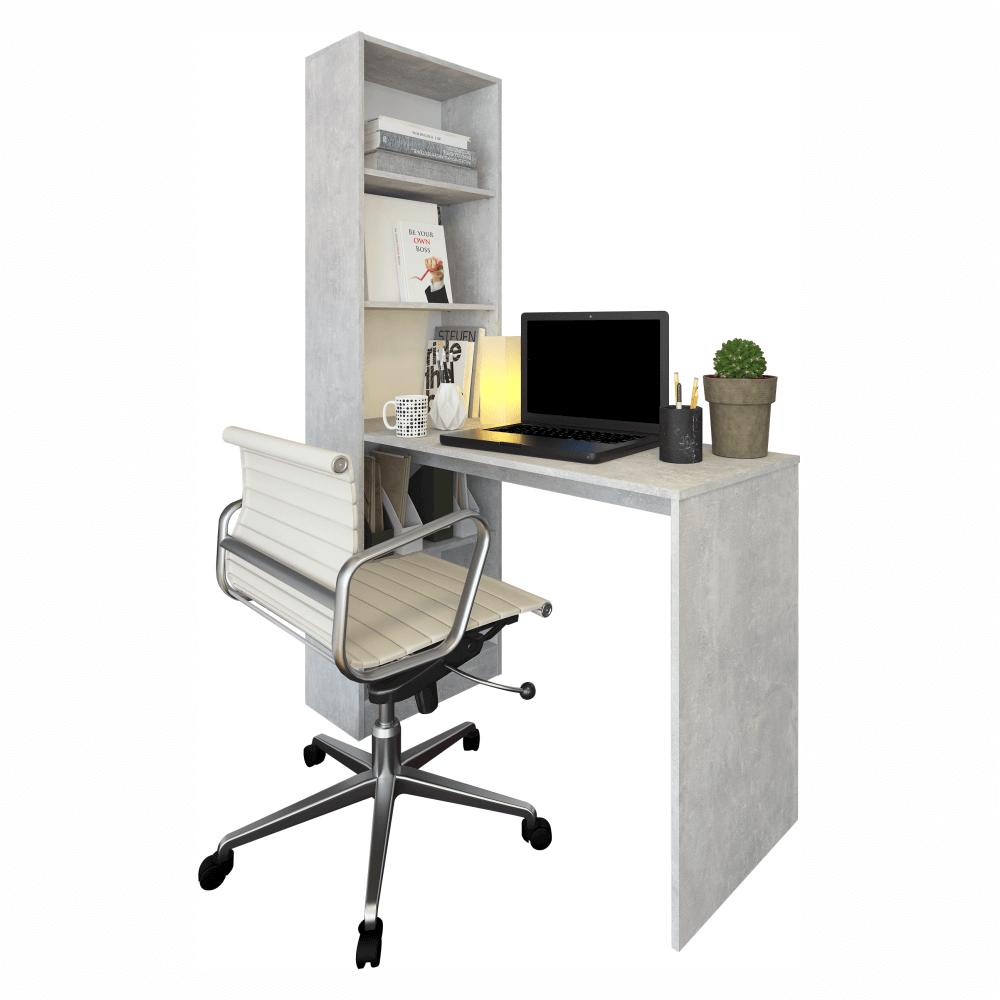 Többfunkciós íróasztal, beton, JASMIN