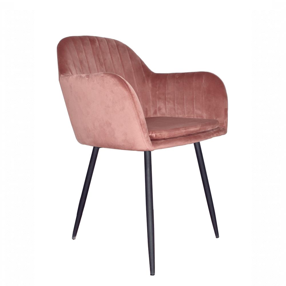 Dizájnos fotel, rózsaszínes barna Velvet anyag, ZIRKON