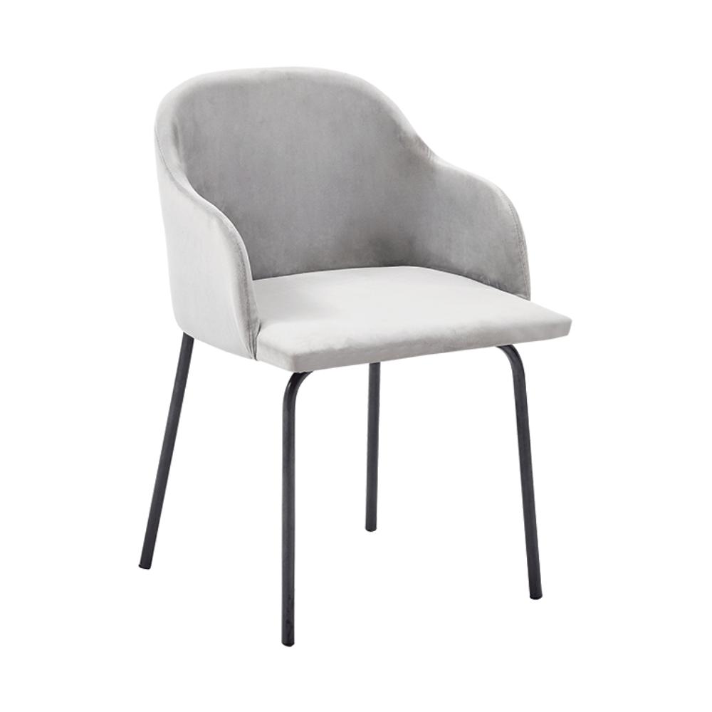 Étkező fotel, szürke Velvet anyag, DIVAL