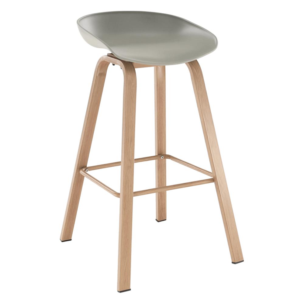 Bár szék, szürke/természetes, BRAGA