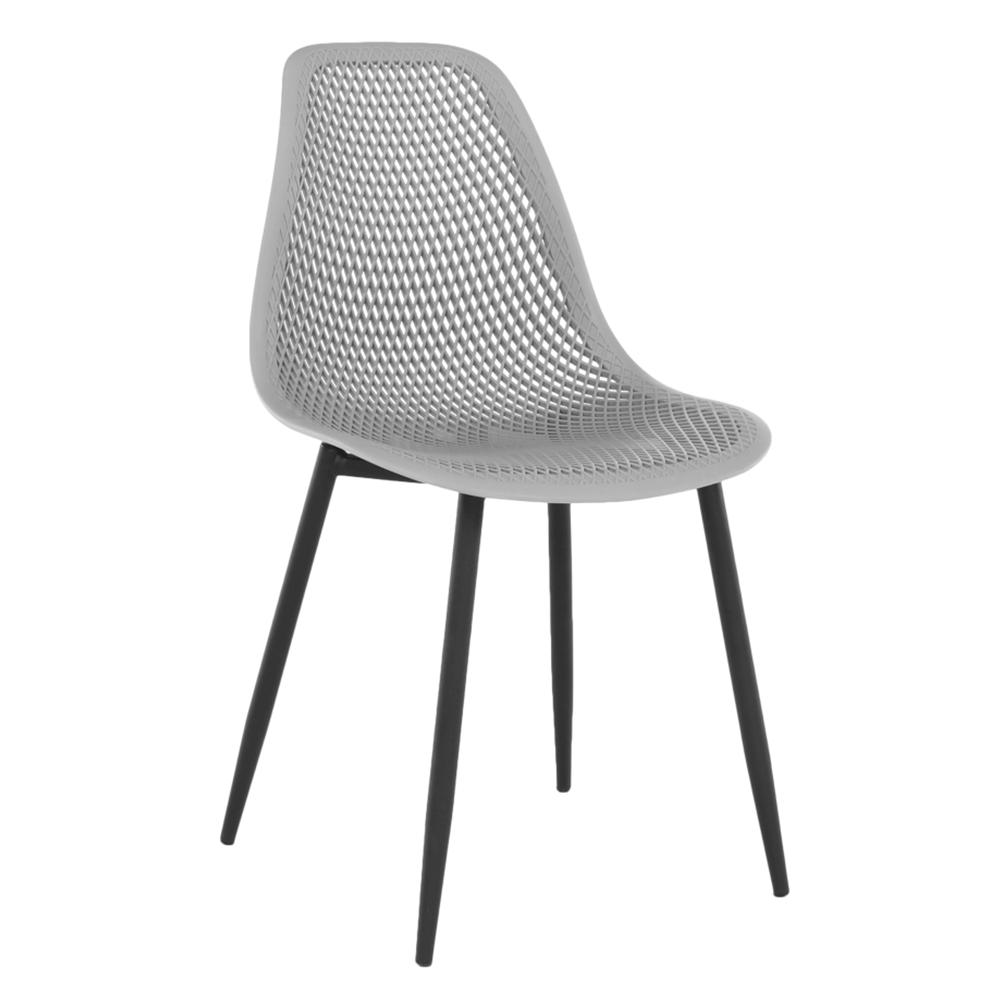 Étkező szék, szürke/fekete TEGRA