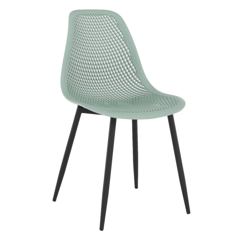 Étkező szék, zöld/fekete TEGRA