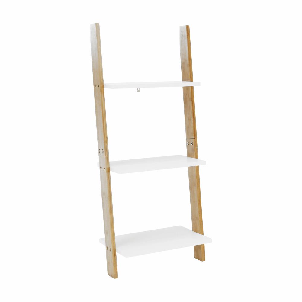 Polc, fehér/bambusz, GAPA TYP 1