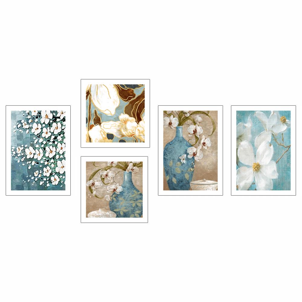 Üvegezett nyomtatott kép, sokszínű, DX TYP 20 VÁZÁK