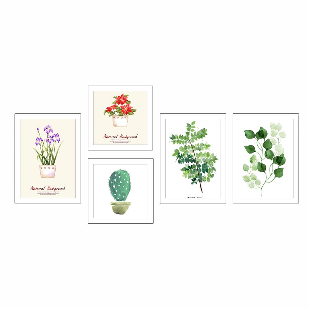Tablouri imprimate vitrate, multicolore, DX TYP  22 PLANTE
