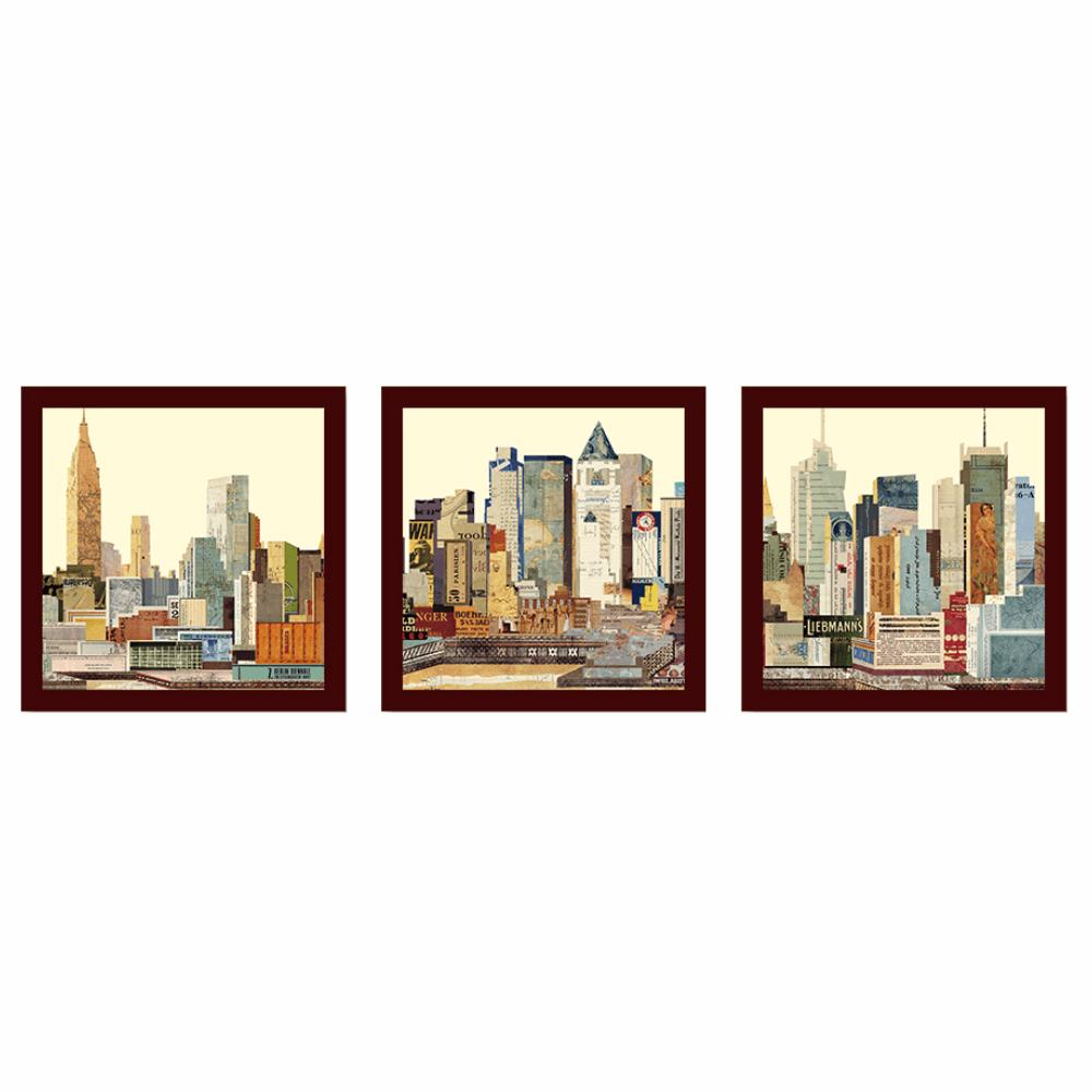 Tablouri imprimate vitrate, multicolore, DX TYP  24 ORAş