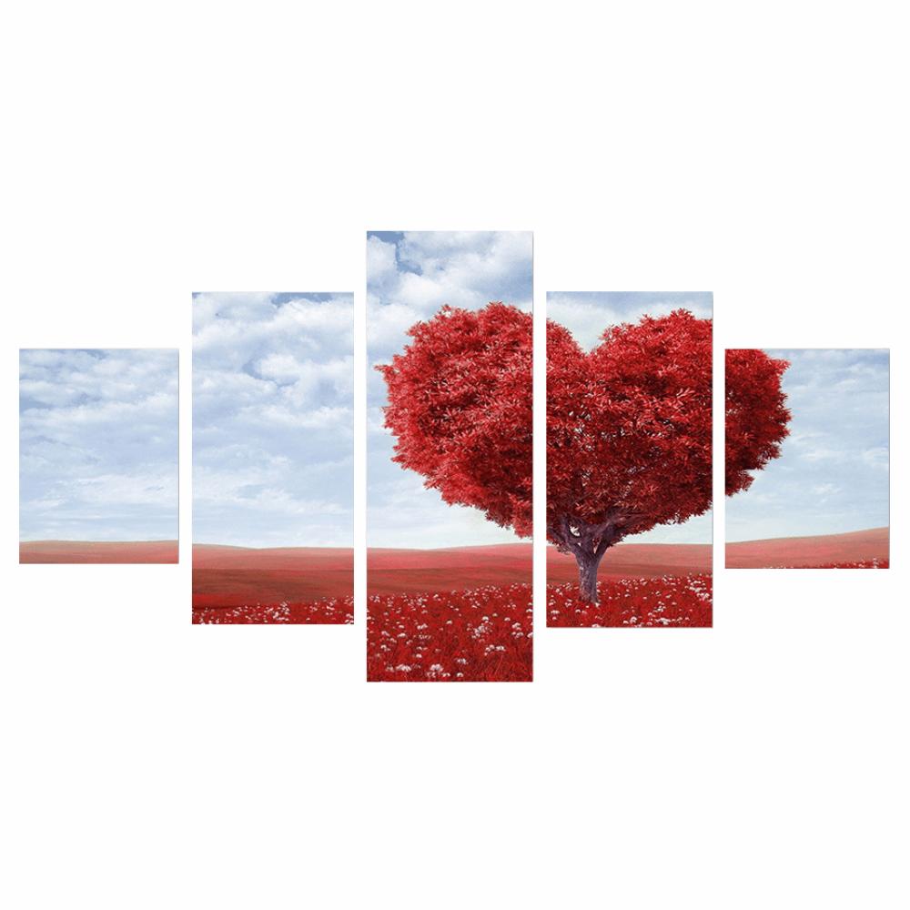 Imagini tipărite pe pânză, multicolore, DX TYP 25 INIMĂ