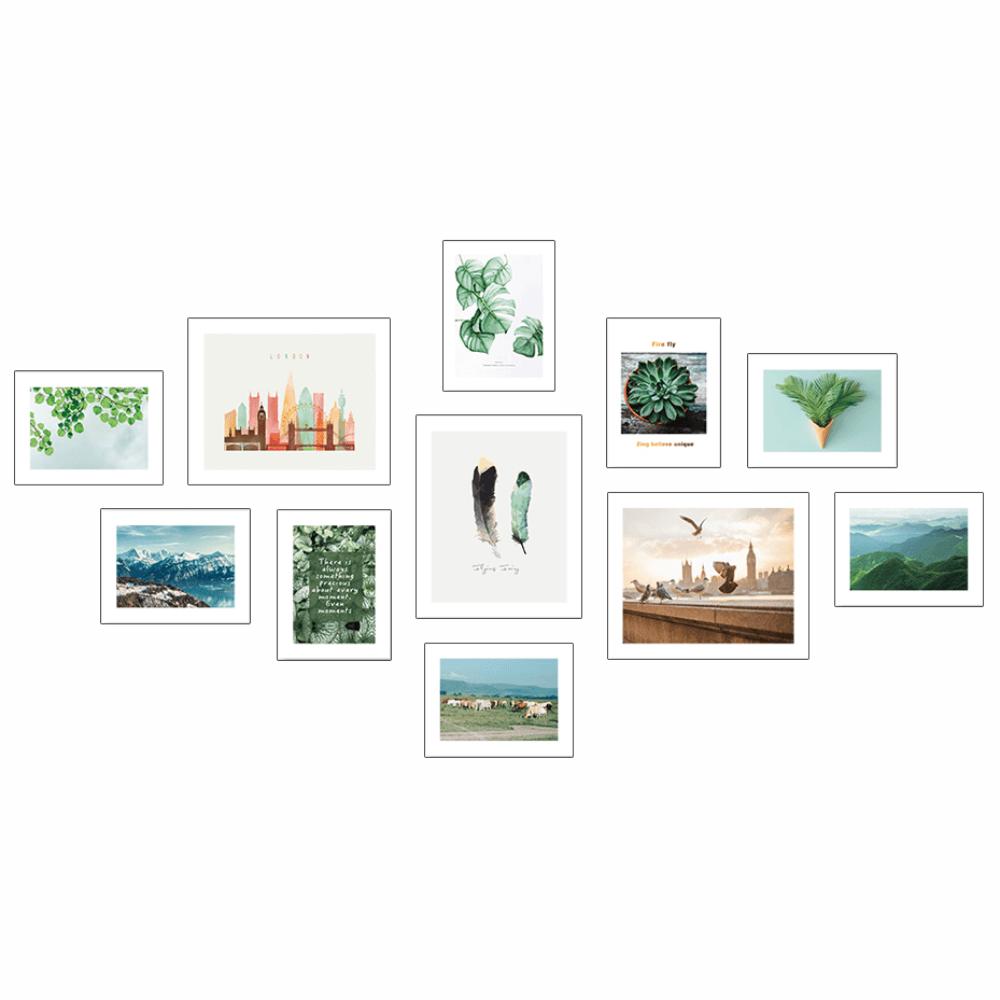 Üvegezett nyomtatott kép, sokszínű, DX TYP  31 KÉSZLET