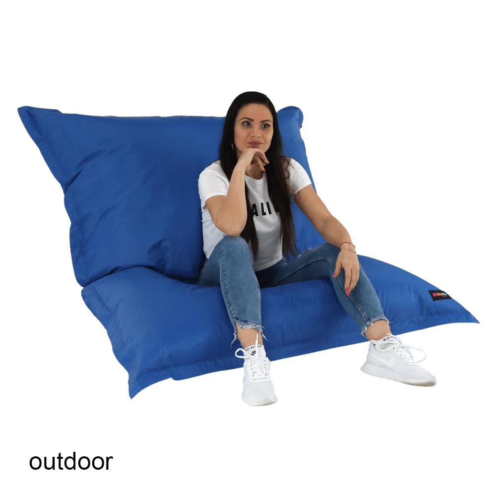Fotoliu tip sac, material textil albastru, GETAF