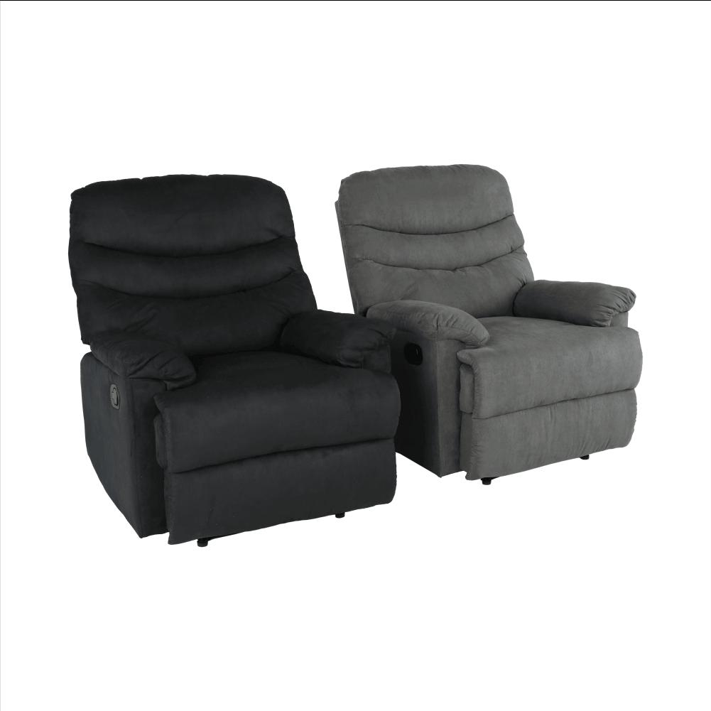 Állítható masszázs fotel, szürkésbarna bársony anyag, LAMBERT
