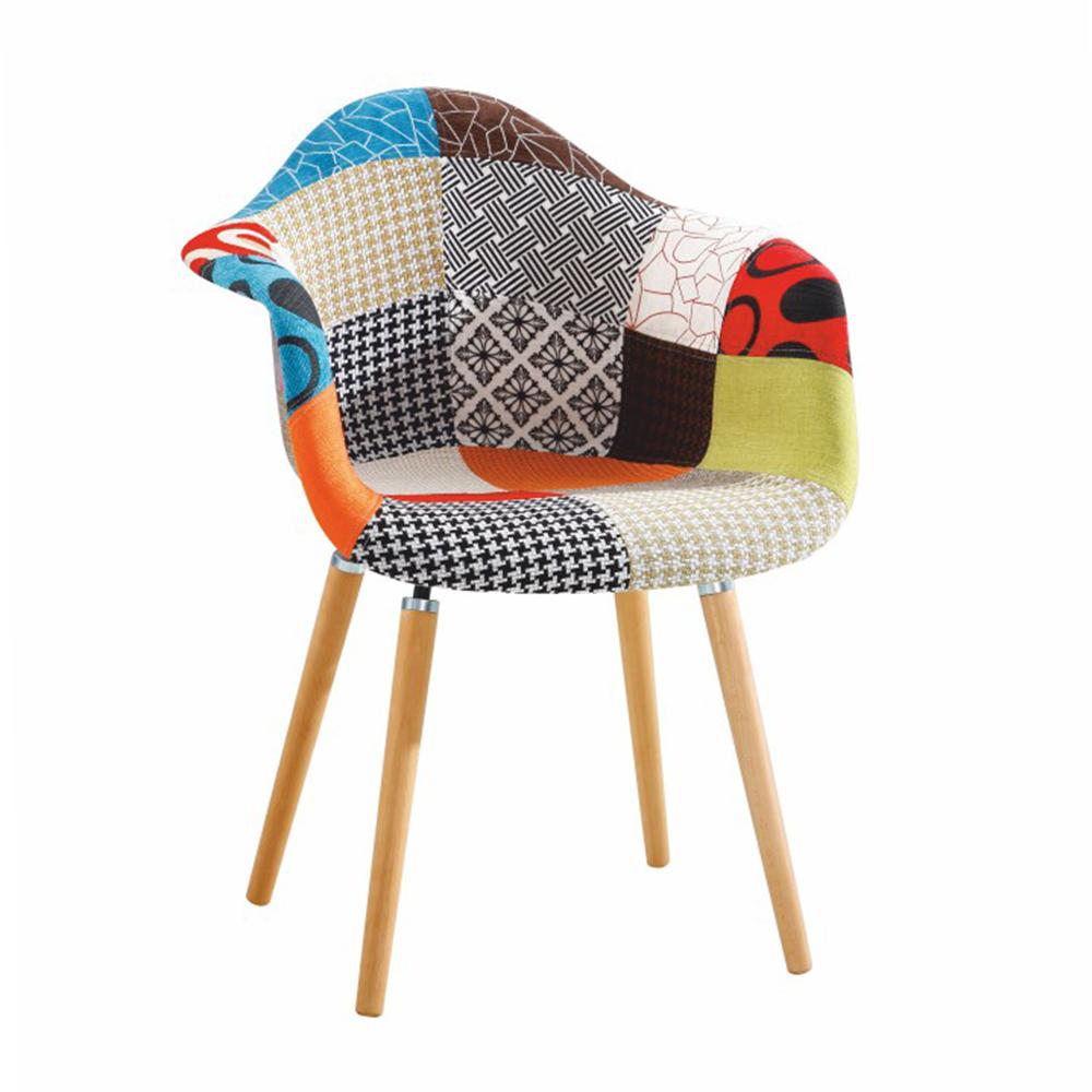 Fotoliu de design, material textil mozaic/fag, KADIR NEW TIP 1