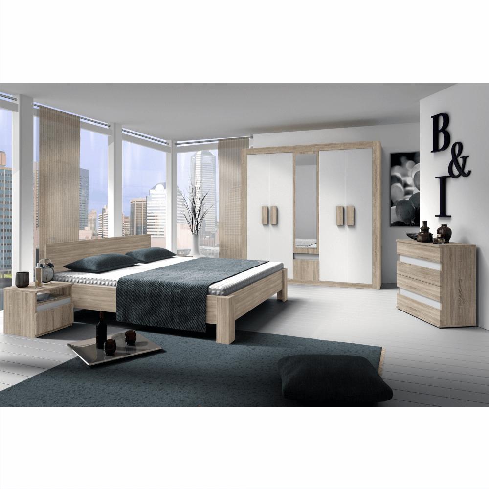 Dormitor, stejar sonoma /alb, MEDIOLAN 2 NEW