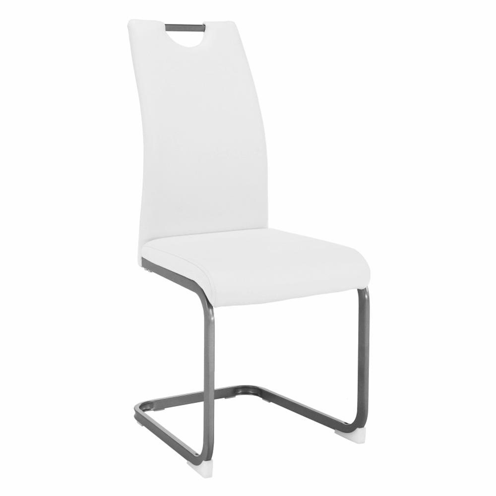 Étkező szék, fehér, DEKOMA