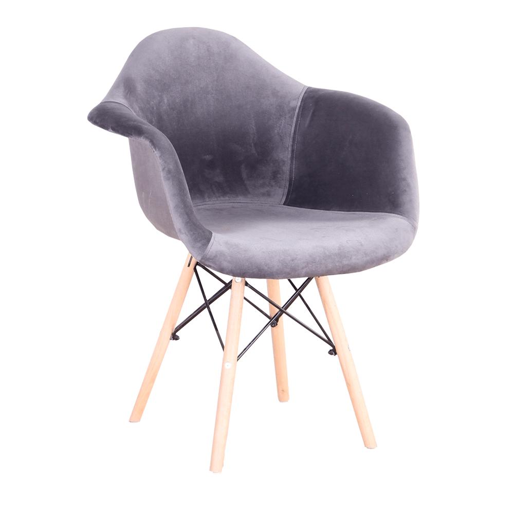 Modern fotel, szürkésbarna Taupe Velvet anyag, DAREL TYP 3