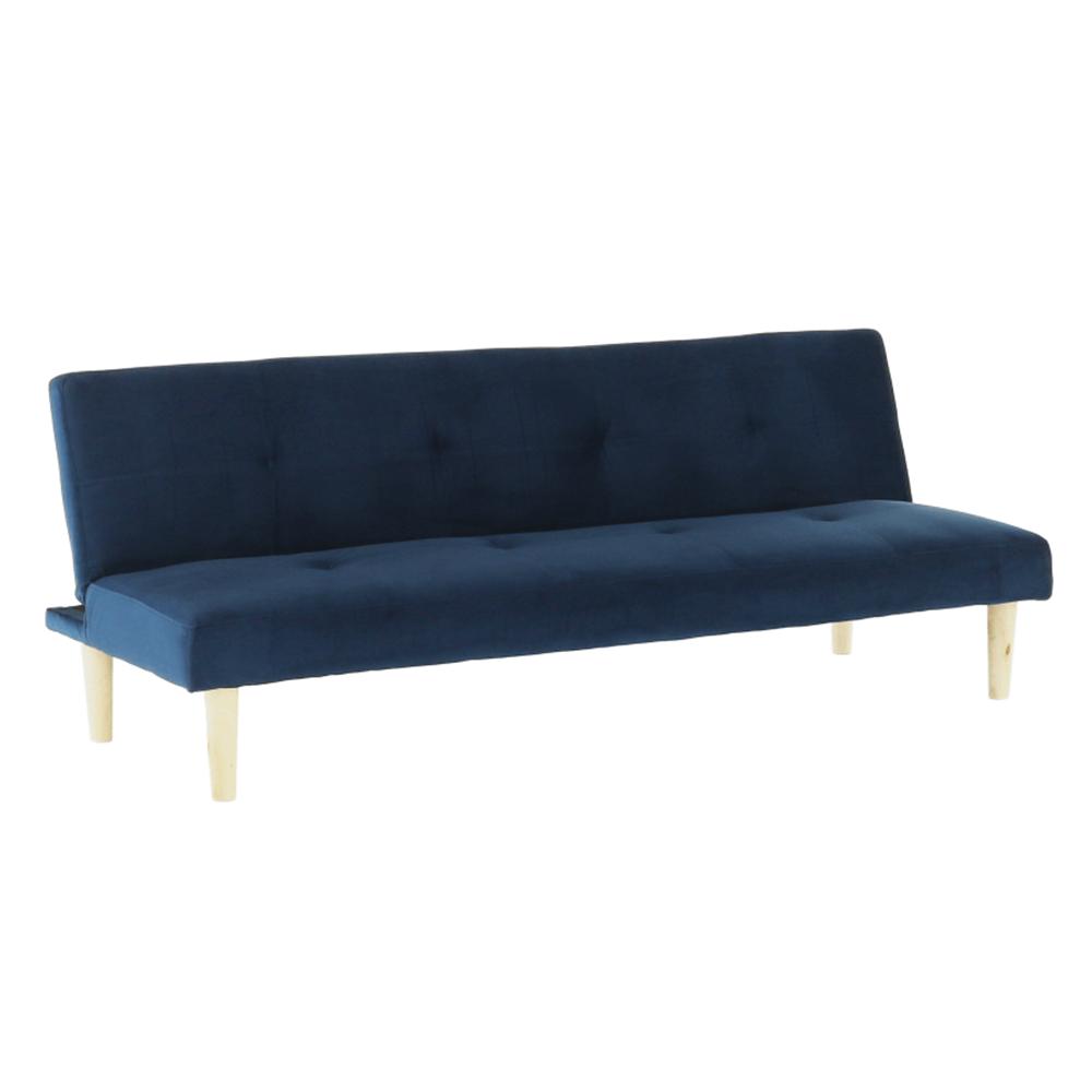 Canapea extensibilă,  albastru închis/stejar, ALIDA