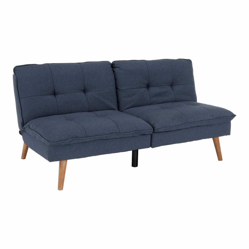 Canapea extensibilă, material Velvet albastru-gri, NAIRA