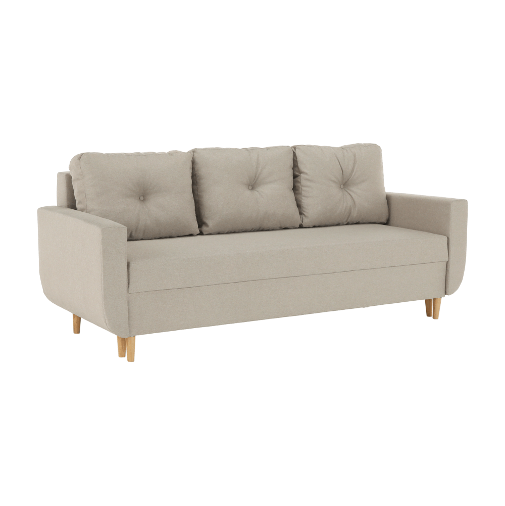 Canapea extensibilă, maro deschis, DOREL