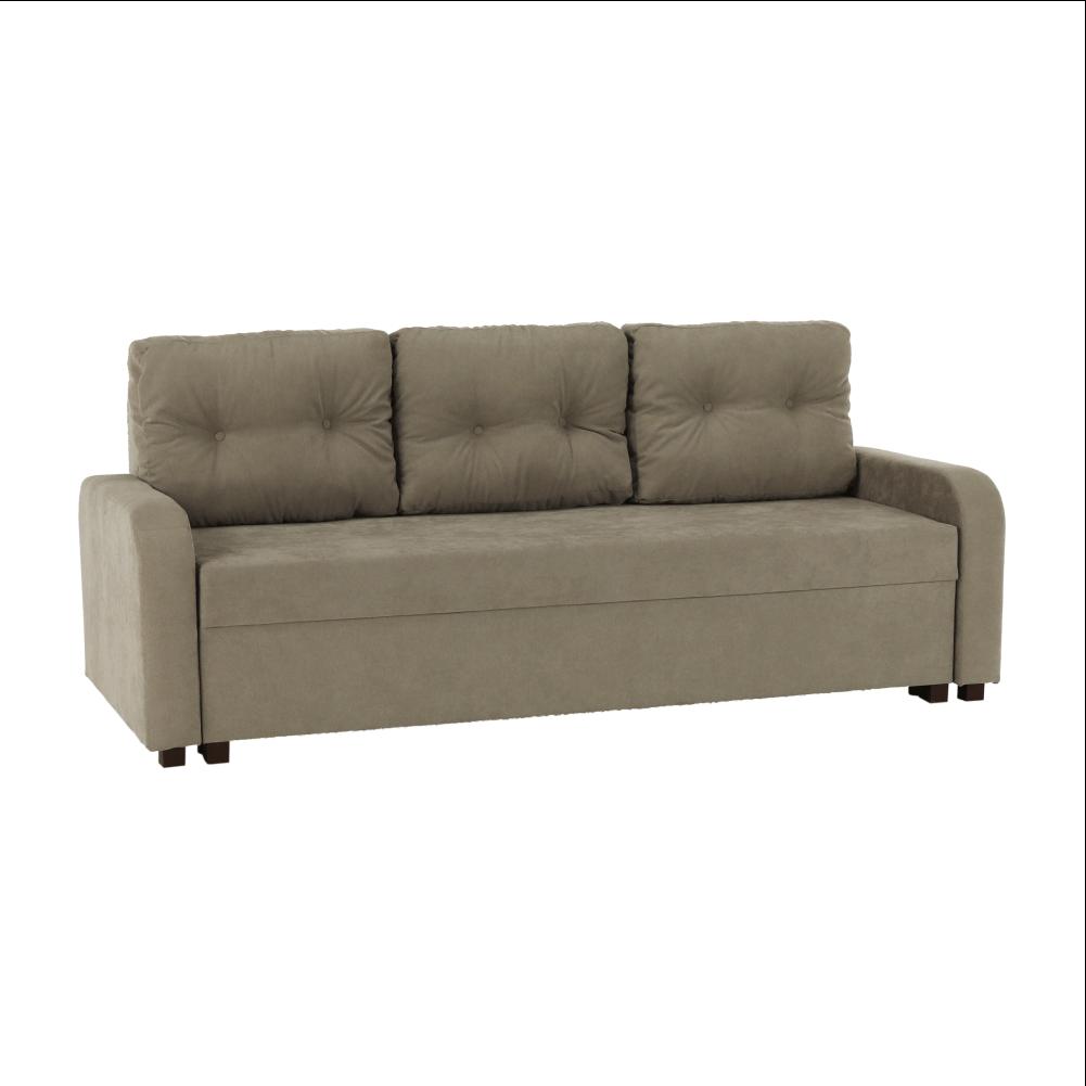 Canapea extensibilă, gri maroniu Taupe, PORTORIKO