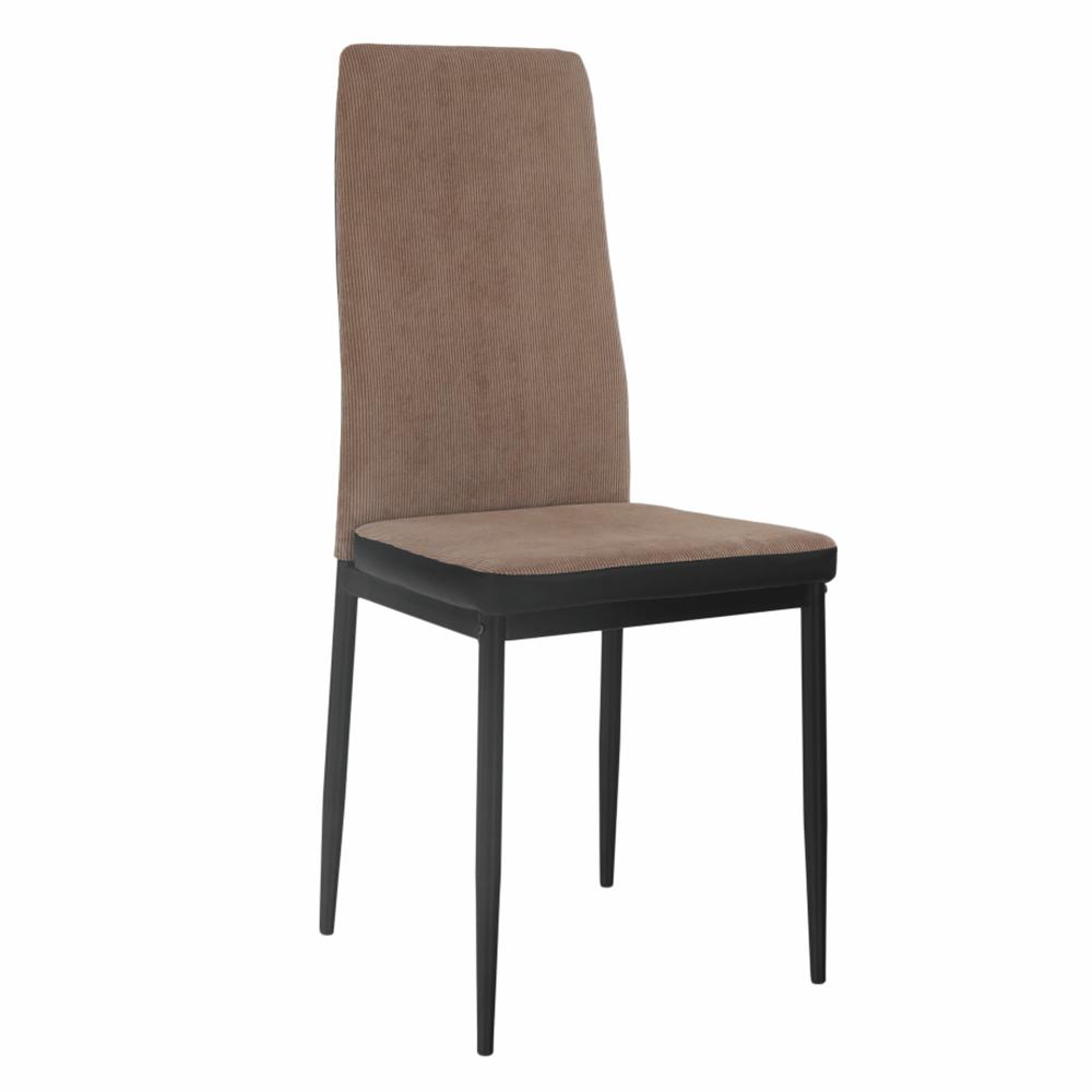 Étkező szék, világosbarna/fekete, ENRA
