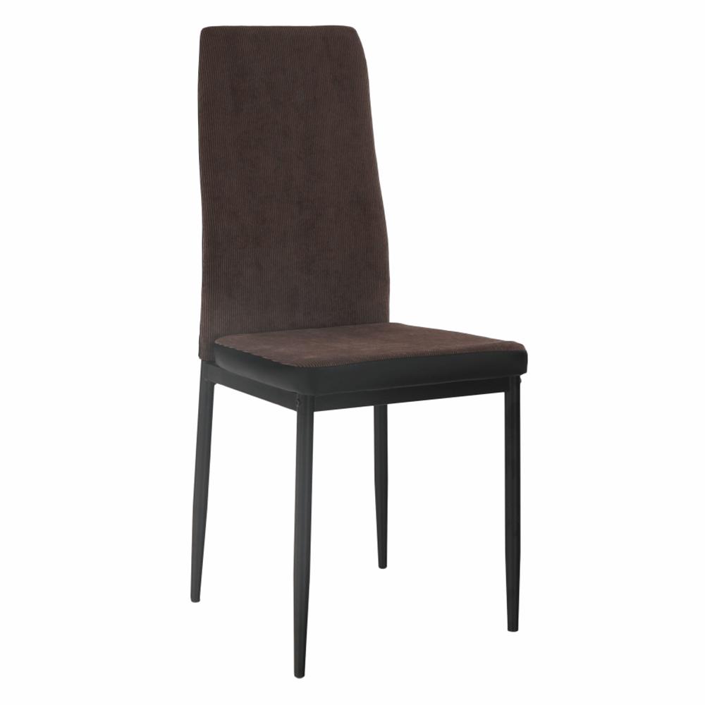 Étkező szék, sötétbarna/fekete, ENRA