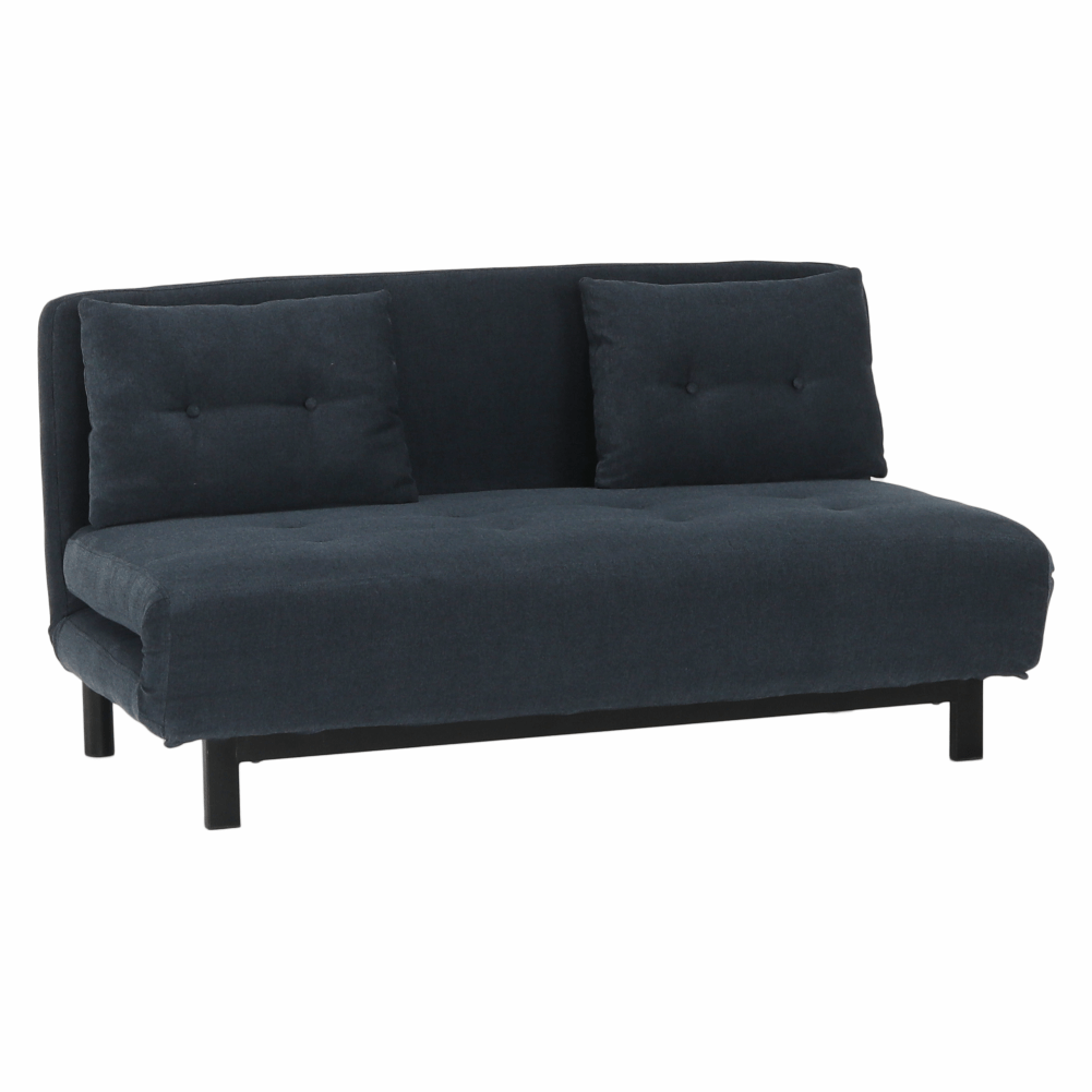 Canapea extensibilă, material textil gri, BODENA