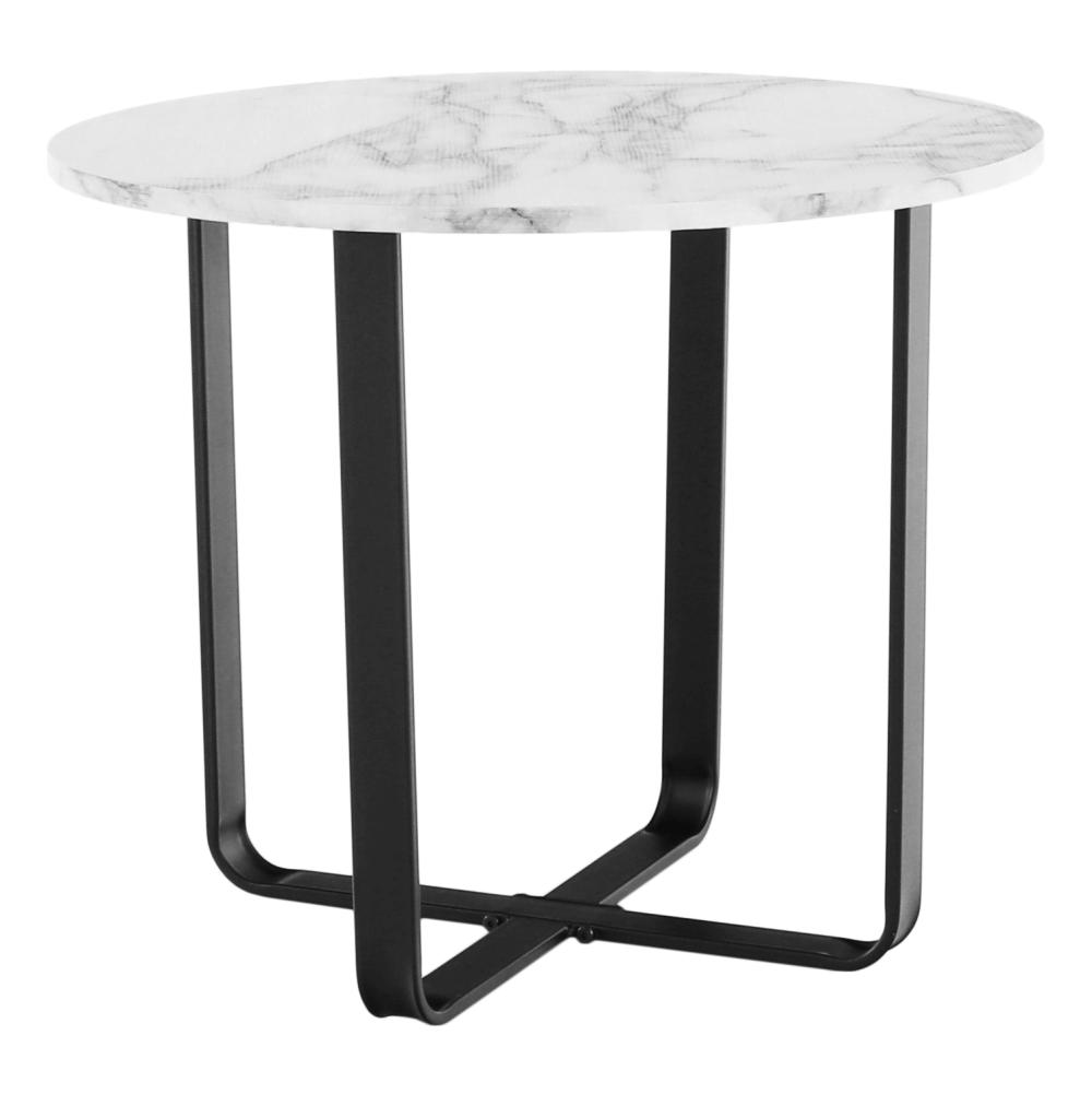 Dohányzóasztal, fehér márvány/fekete érc, SALINO