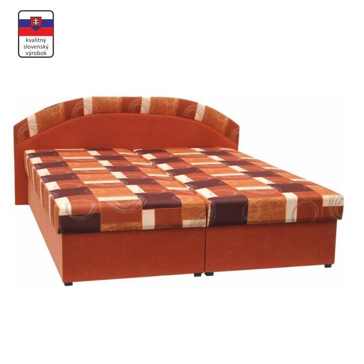Manželská posteľ s úložným priestorom, molitánová, 165x195 cm, KASVO