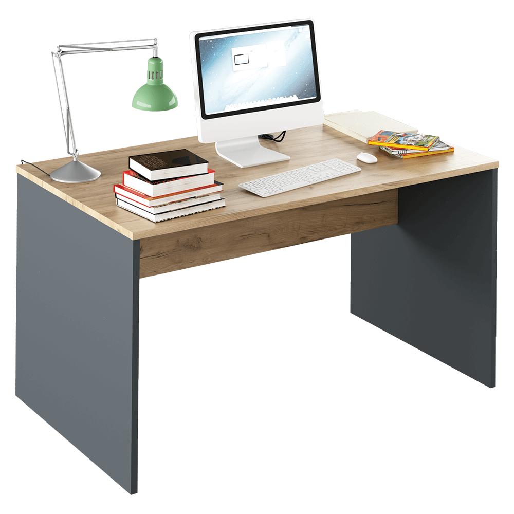 Íróasztal, grafit/tölgyfa artisan, RIOMA TYP 11