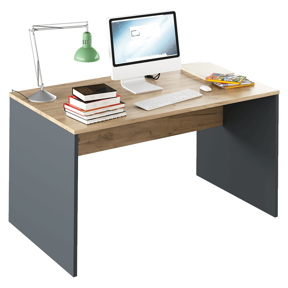 Masă de birou, grafit/stejar artisan, RIOMA NEW TYP 11